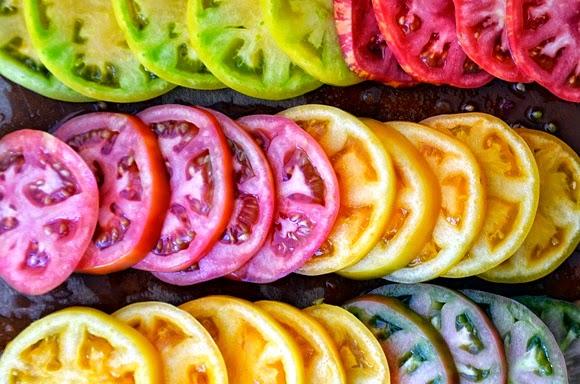 Carpaccio de tomates con Orito