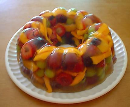Gelatina de Frutas al Ron