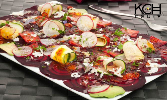 carpaccio verduras